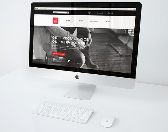 Tomo Web Store Template PSD