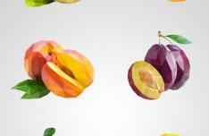 Low Poly Vector Fruits
