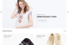 Minimal Clean E-Commerce PSD Template
