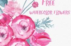 Watercolor Flowers PSD