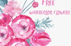 Watercolor Flowers PSD