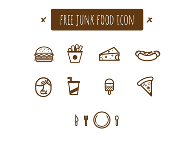 Junk Food Icon Pack Vector