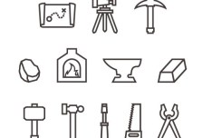 12 Forge Icons PSD