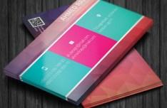 Creative Polygonal Business Card Templates PSD