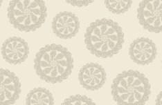 Retro Brown Floral Pattern Vector