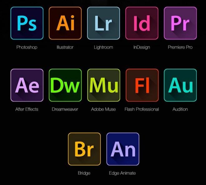 12 Adobe CC App Icons PSD