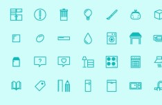 32 Kitchen Store Icons Vector