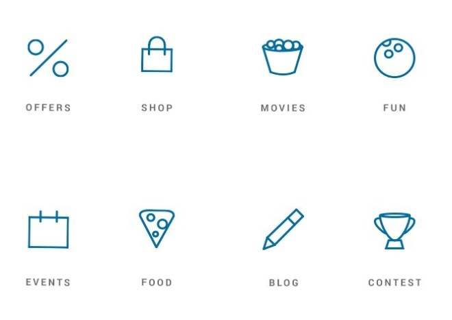 8 Mall Site Icons Vector