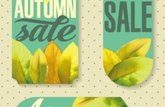 Autumn Sale Labels (Maple Theme) Vector