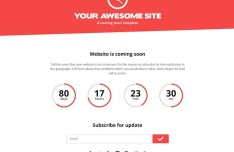 Bootstrap Based PSD Coming Soon Template