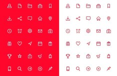 30 PSD Line Icons For Web Application