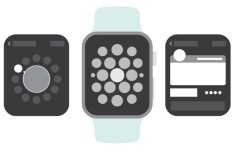 Apple Watch Wireframe Kit Vector