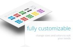 Full Customizable Flat UI KIT PSD