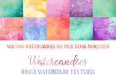 10 Watercolor Textures (JPG & PS Pat)