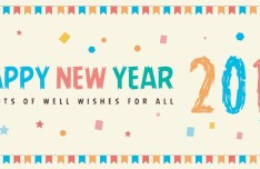 Happy New Year 2016 Banner Vector