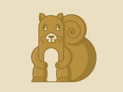 Flat Squirrel Vector