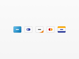 5 Minimal Credit Card Icons For Sketch
