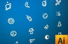 Space Icon Set (AI+Sketch)