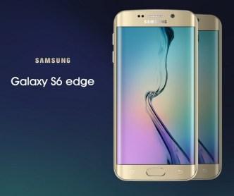Gold Galaxy S6 edge Mock-Up PSD