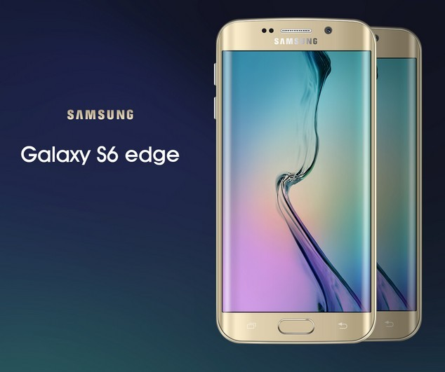 Gold Galaxy S6 edge Mock-Up PSD