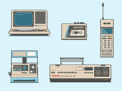 80s Electronics Vector