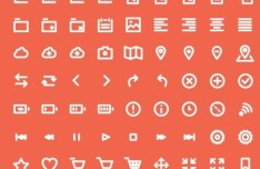 81 Line Icons For Sketch