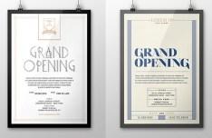 Grand Opening Retro Flyer Set