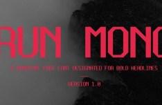 Run Mono Typeface