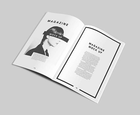 A4 Magazine Mockup Templates PSD