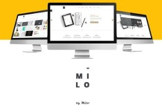 Milo Business Website Template PSD