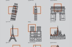 Iconic Buildings Icons Vector