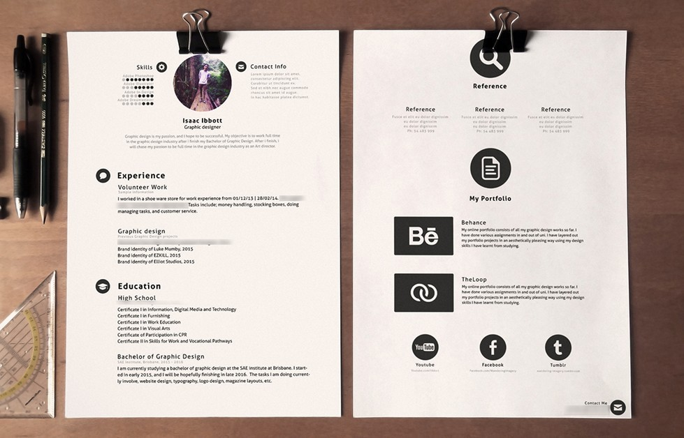 Free clean stylish resume template psd titanui clean stylish resume template psd yelopaper Choice Image