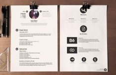 Clean Stylish Resume Template PSD