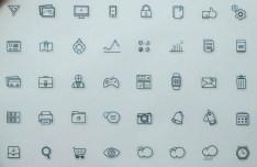Fblu - 40 Line Icon Set (AI+PSD)