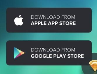 App Download Buttons Badges For Sketch