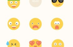 9 Flat Emoji Icons For Sketch