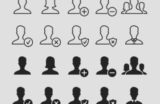 User Avatar Icon Set Vector