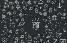 Hand Drawn Fantasmatic Icons Vector