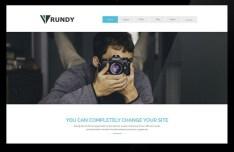 RUNDY Business Website Home Template PSD