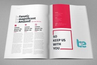 Magazine & Brochure Print Template PSD