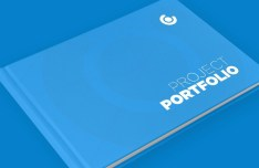 Blue Hardcover Book Mockup PSD