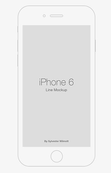 iPhone 6 Line Template PSD
