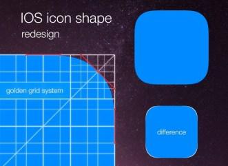 Golden Ratio App Icon Grid Template