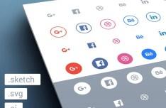 Tiny Social Icon Set Vector