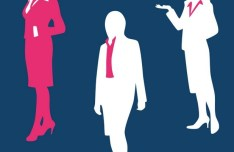 Business Men and Women Silhouette Set PSD