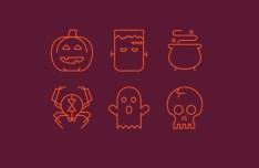 6 Vector Halloween Line Icons
