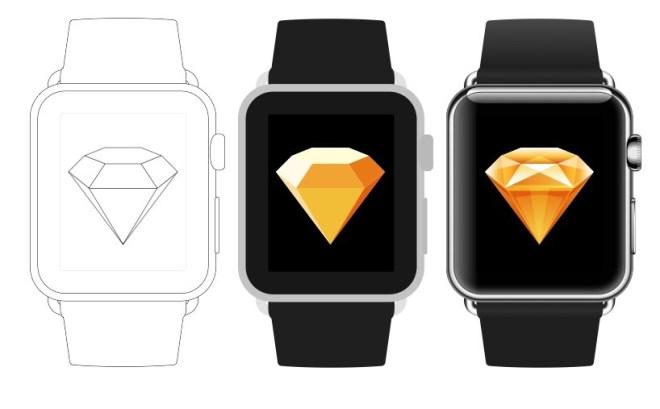 3 Apple Watch Sketch Templates