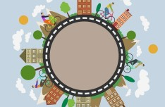 City Life Circle Line Vector