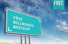 High Quality Outdoor Billboard Mockup