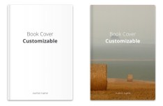 Customizable Book Cover For Sketch